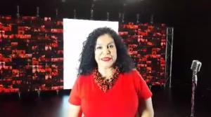 Eva envía saludo patrio a peruanos que viven fuera